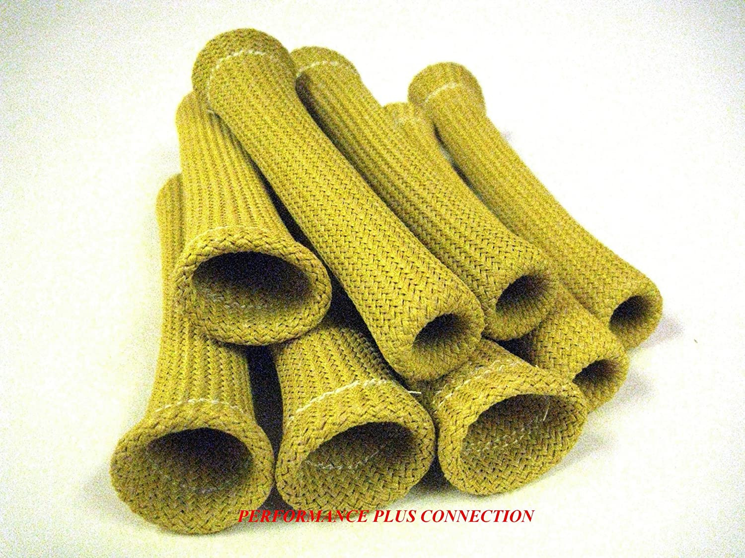 Yellow Heat Protector Insulating Fire Sleeve Spark Plug Wire Boot 8 Cyl