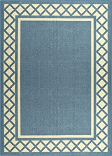 product image for Maples Rugs Bella Area Rugs for Living Room & Bedroom [Made in USA], 5 x 7, Blue