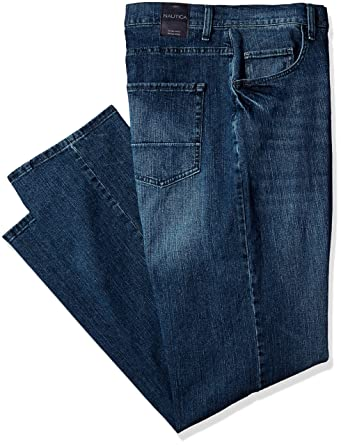 f84fc78bb3e Amazon.com: Nautica Men's Big and Tall 5 Pocket Relaxed Fit Stretch Jean:  Clothing