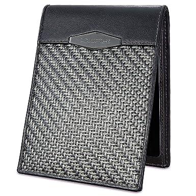f9e585636ea COLDFIRE Tactical Carbon Fiber Wallet for Men, Handmade EDC Genuine  Kangaroo leather, RFID blocking mens leather wallets, Ultra-slim Minimalist  Mini ...
