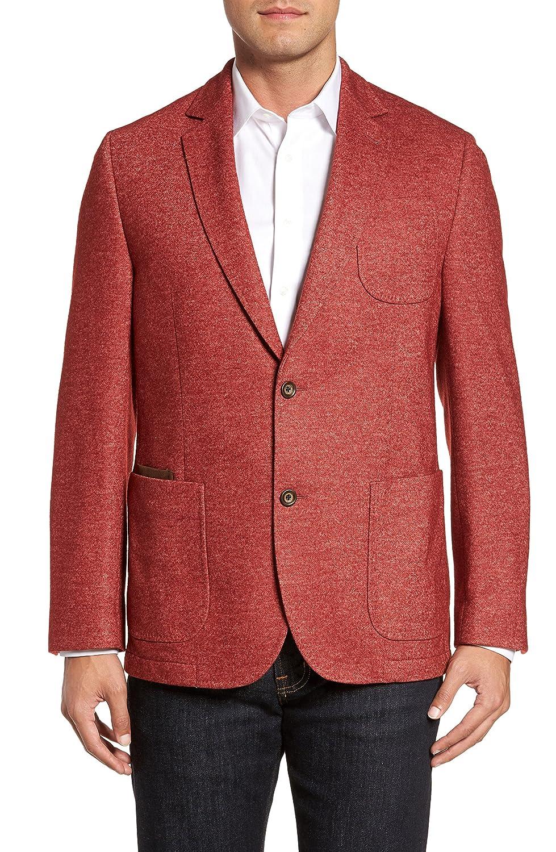 フライント アウター コート FLYNT Classic Fit Suede Trim Jersey Spor Red [並行輸入品] B079YJJRXX 46_L