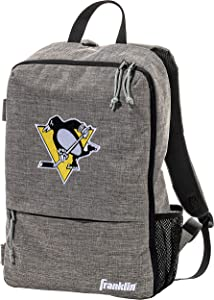 """Franklin Sports Team Licensed Street Pack Backpack - Official NHL Hockey Equipment Bags - Heather Gray Hockey Backpack - 18"""" x 12"""" x 4"""""""