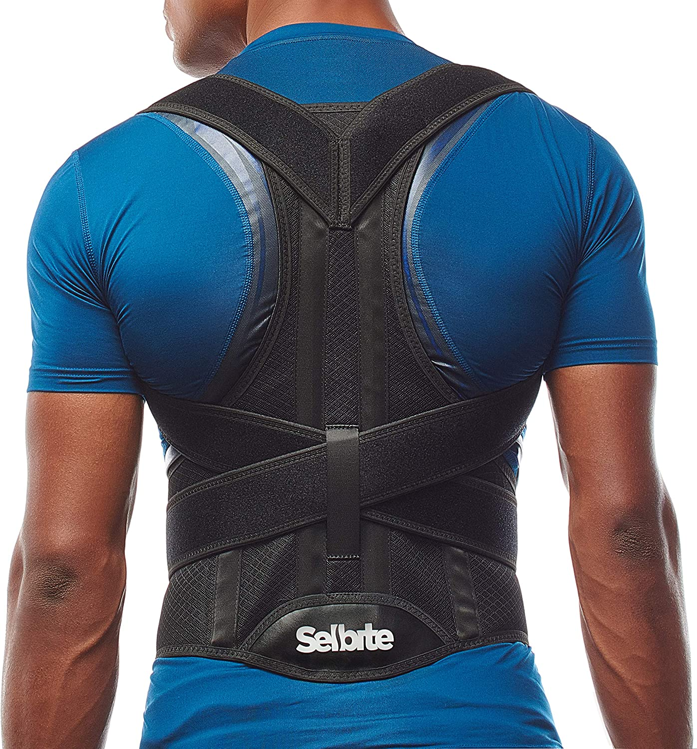 Back Brace Posture Corrector for Men and Women - Adjustable Posture Back Brace for Upper and Lower Back Pain Relief - Muscle Memory Support Straightener (L)
