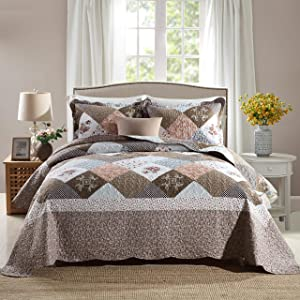 Travan 3-Piece Queen Quilt Sets with Shams Oversized Bedding Bedspread Coverlet Set