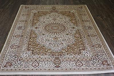 Amazon Com Persian Silk Gold Round Rug 6x6 Circle Shape