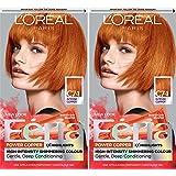 L'Oreal Paris Feria Multi-Faceted Shimmering Permanent Hair Color, C74 Intense Copper, Pack of 2, Hair Dye