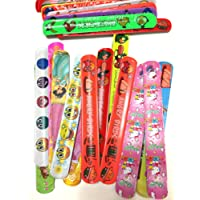 50 Assorted Slap Bracelets- Mega Pack