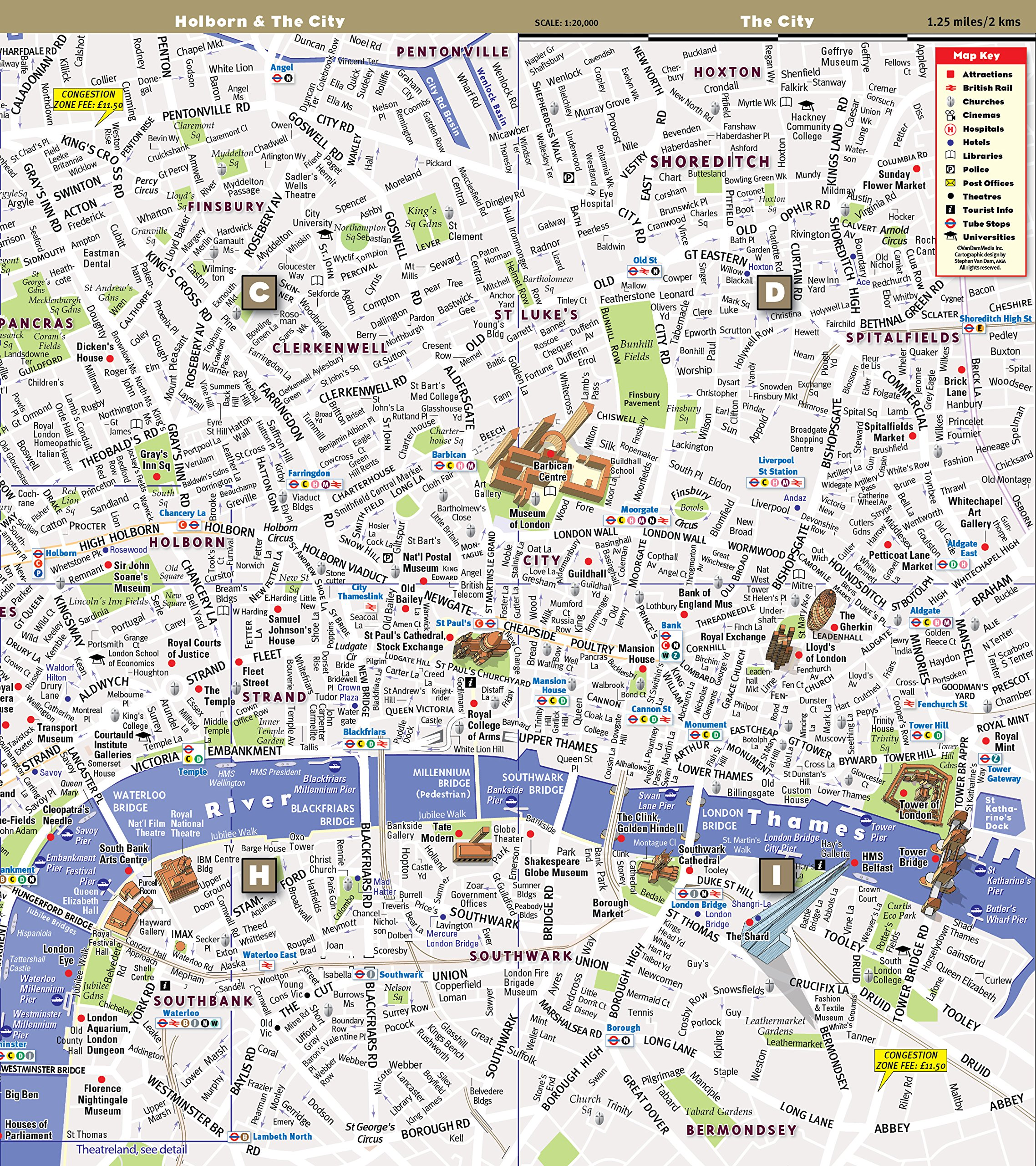 City Street Map of Paris sights and hotels France StreetSmart Paris Map by VanDam 2019 English and French Edition Laminated folding pocket size city travel and Metro map with all attractions