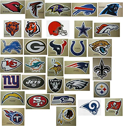 Amazon Com Nfl Decal Stickers Football Team Logo Licensed