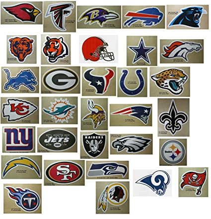 image about Printable List of Nfl Teams identified as NFL Employees Emblem Stickers Preset of 50 Soccer Stickers (All 32 Staff members Emblems and further more) 4.25\