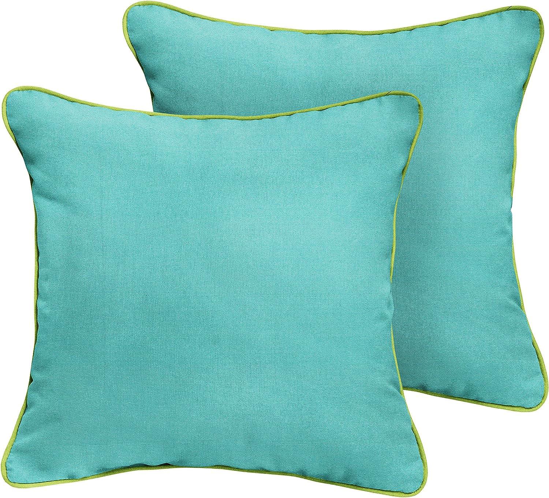 Mozaic Amz969811sp Lumbar Pillow 16 In Canvas Aruba With Macaw Green Garden Outdoor