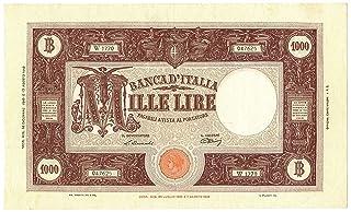 Cartamoneta.com 1000 Lire BARBETTI Grande M Testina Retro BI Repubblica Italiana 19/12/1946 qSPL