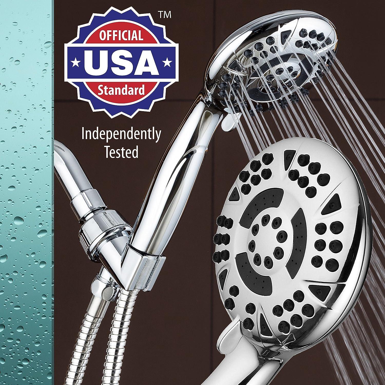 Aquadance alta presión 6-setting 4,15 cm Face cromado ducha de ...