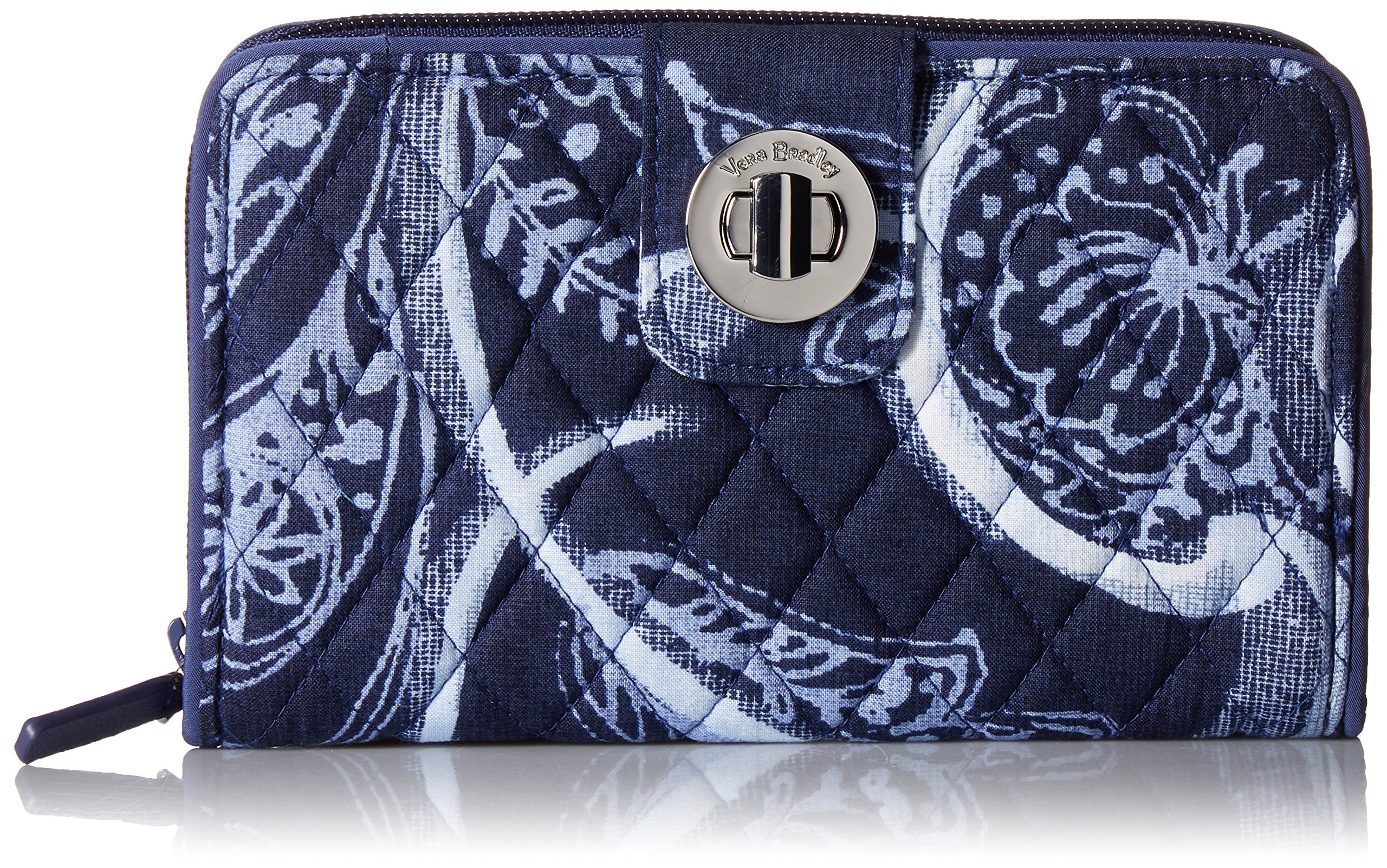 Vera Bradley RFID Turnlock Wallet, Signature Cotton, Indio