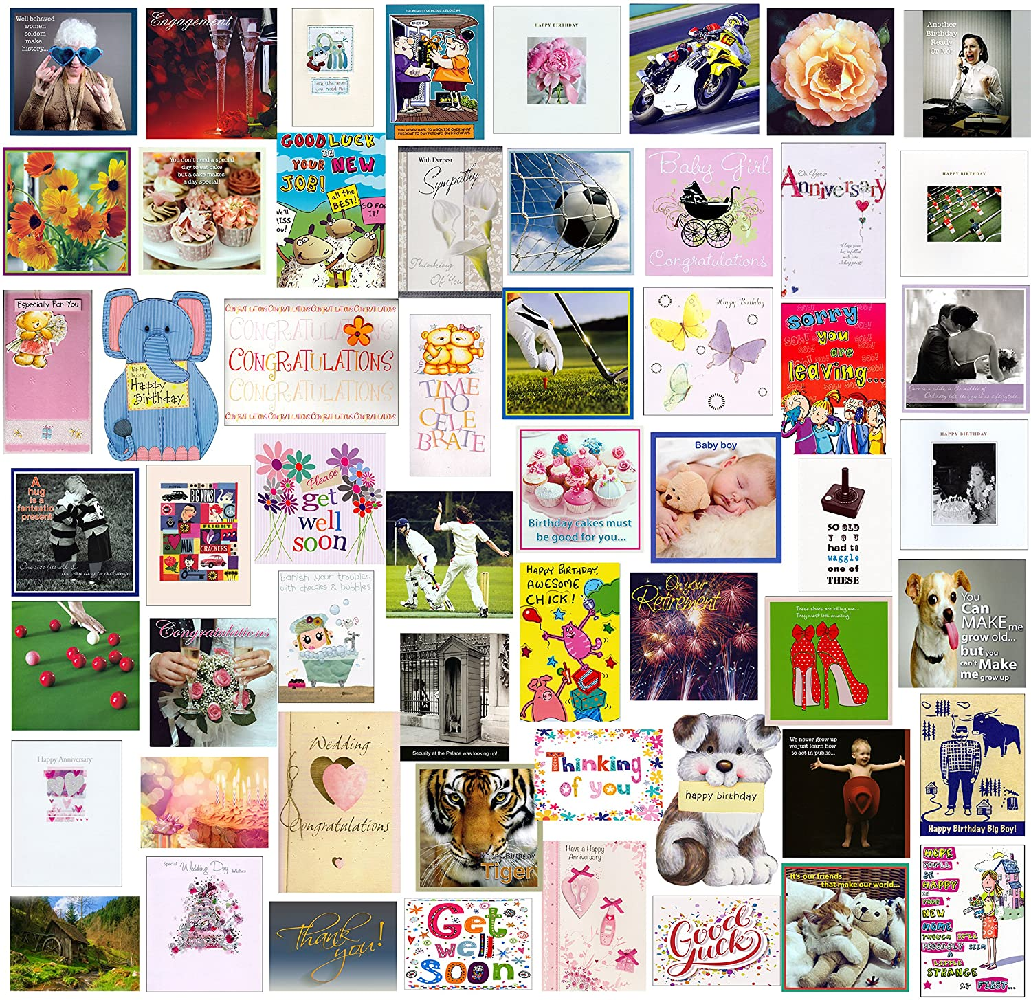 Pack Of 100 Mixed Trade Wholesale Bulk Birthday Greeting Cards Male Female Kids