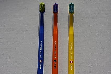 Ultra suave cepillo de dientes, 3 cepillos, CURAPROX Ultra Soft 5460. Mejor limpieza
