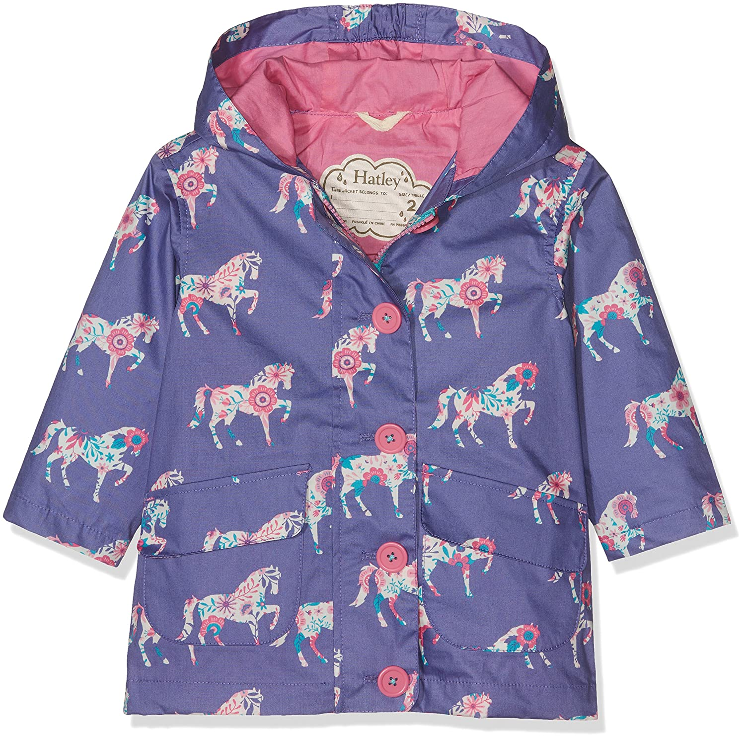 Hatley Girls' Cotton Coated Raincoats Hatley Children's Apparel