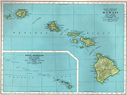 Amazon.com: 1948 Antique HAWAII Map Original Vintage State Map of ...