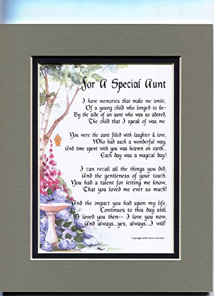 Amazon A Birthday Gift Present Poem For A Special Aunt 67