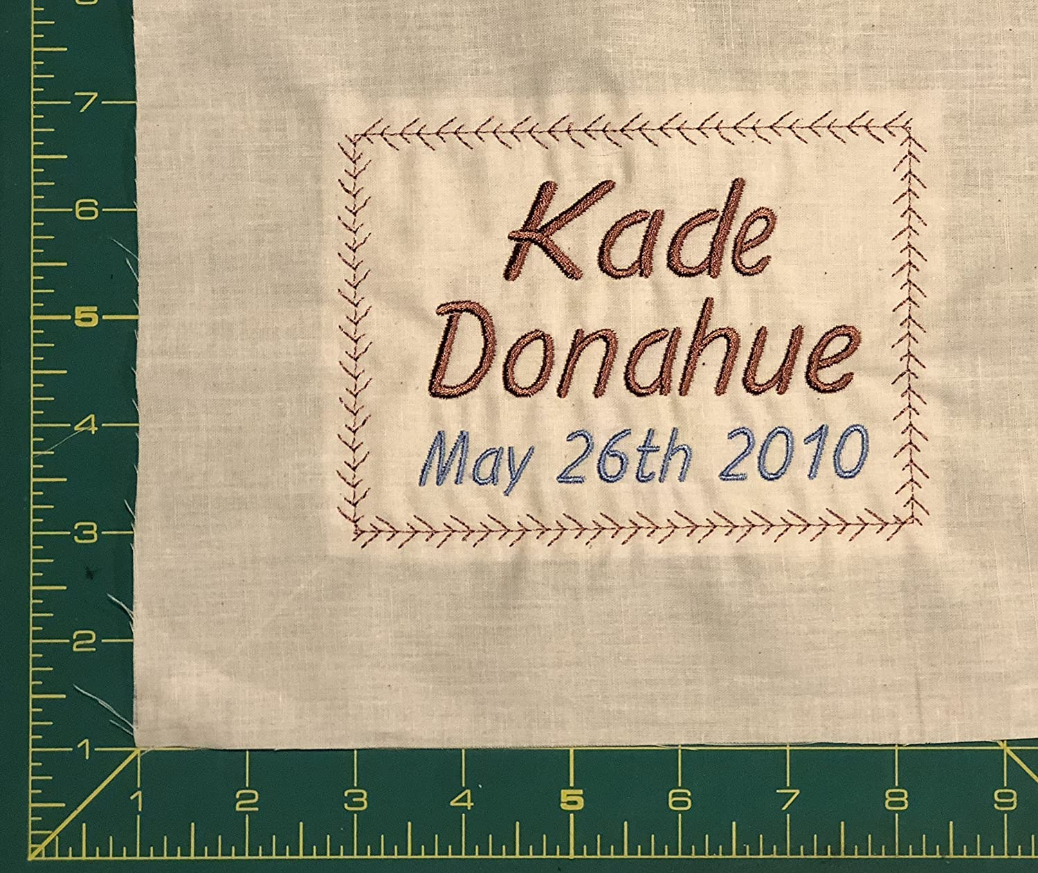 901799dd3229 Embroidered Baby Quilt Label Personalized Sewing Label for Handmade Items  One 4 x 5 inch Quilt Label