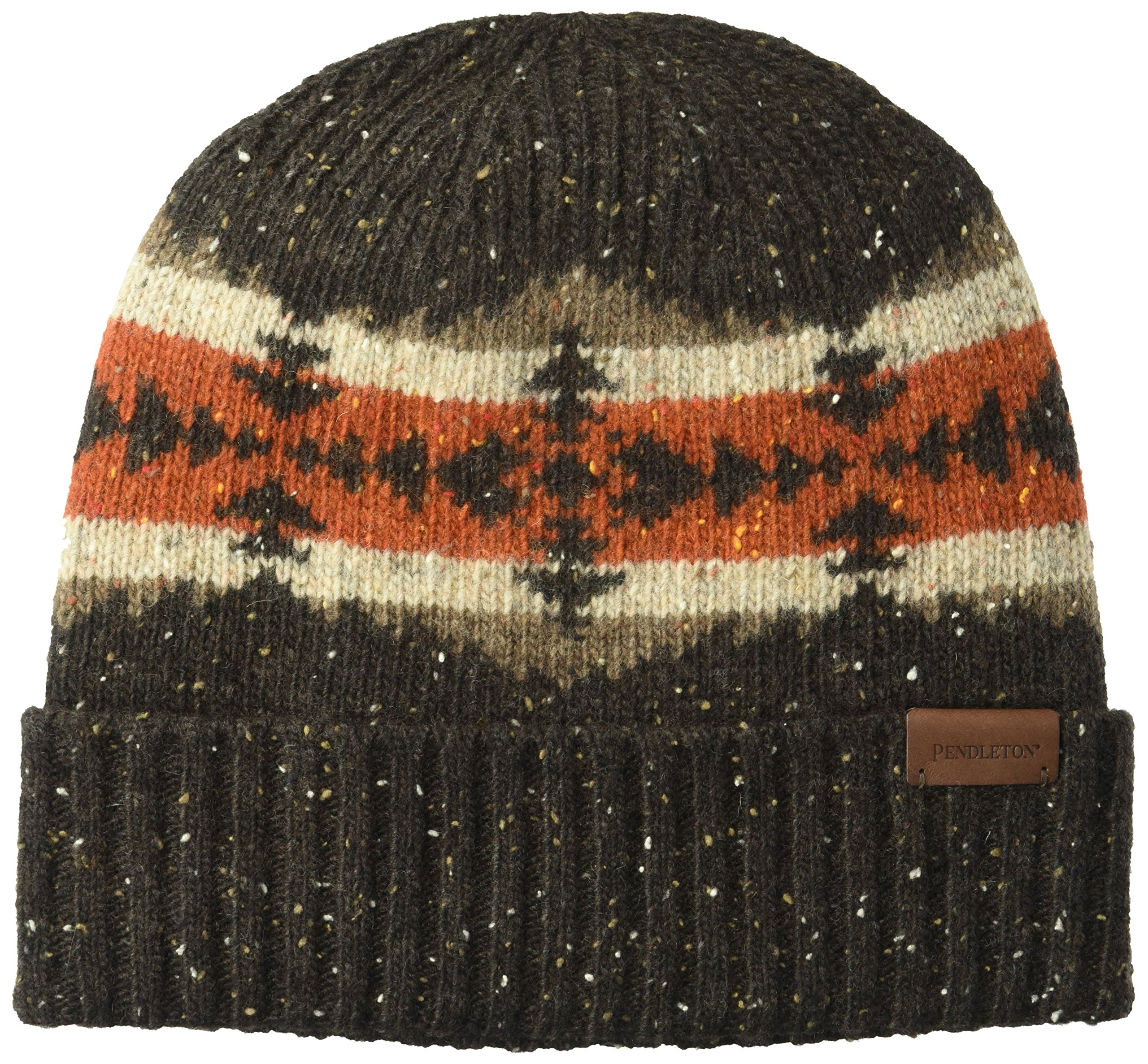 Pendleton Men's Cozie Winter Knit Beanie, Hawkeye Brown, One Size