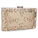 Chichitop Women's Noble Pearl Beaded Evening Clutch Party bags Bridal Wedding Purse