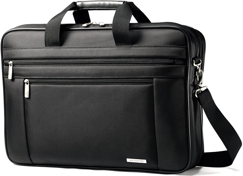 "Samsonite Corporation Business Laptop Briefcase, 17-3/4""x4-1/2 x12-1/2, Black"