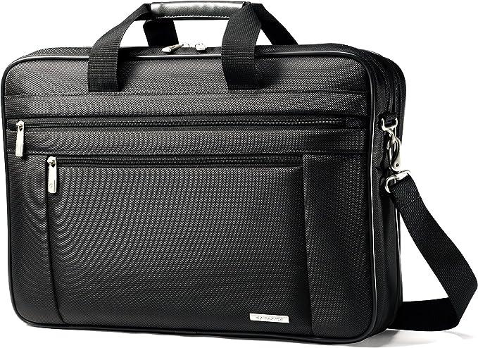Samsonite Classic Multi Gusset Toploader Briefcase, Black, Double 17-Inch