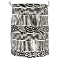 Black & White Laundry hamper, round storage basket, collapsible storage bin is made of cotton fabric. This Laundry…