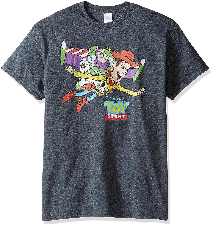 Disney Men's Flying Buzz and Woody T-Shirt