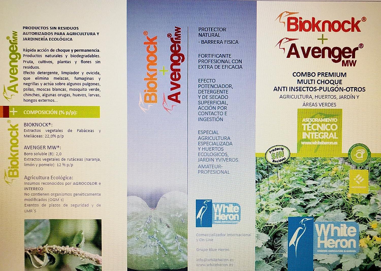 BIOKNOCK®+Avenger® (1.250 m2). Insectos/Pulgón/Hongos; Fito-fortificantes reparadores.Fertilizante Especial. Multi-acción Plantas/Cultivos.