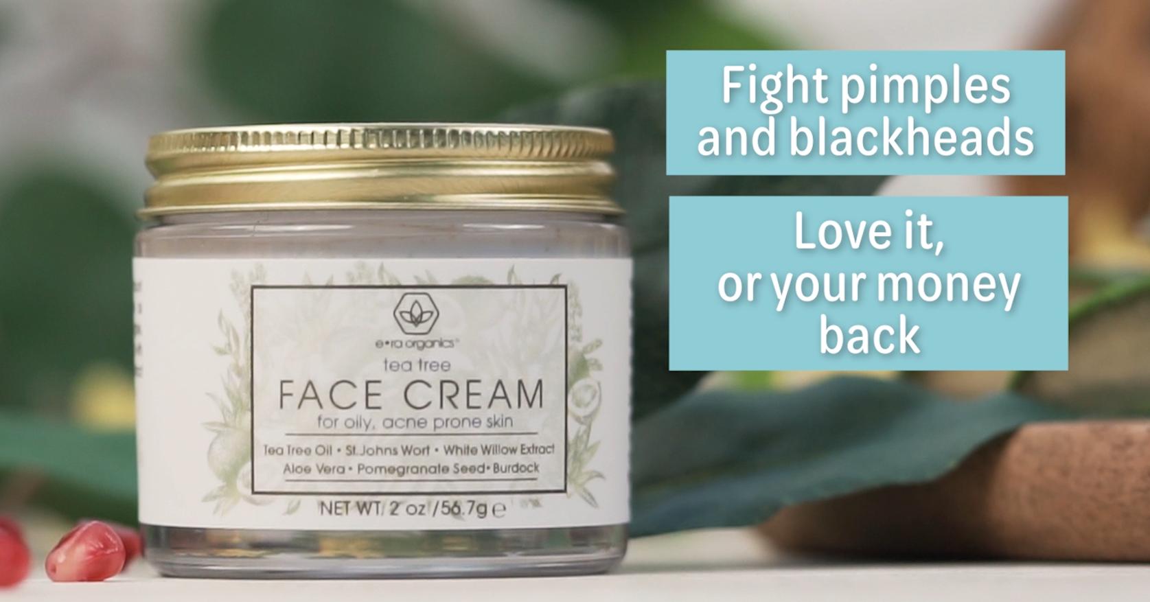 Era Organics Tea Tree Oil Face Cream - For Oily, Acne Prone Skin, Extra Soothing & Nourishing Non-Greasy Botanical… 7