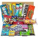 Confezione Media di Snack Americani | Caramelle e Cioccolato per Idea Regalo di Natale e Compleanno | Vasta Gamma tra cui Jolly Rancher Skittles Jelly Belly | 20 Pezzi in Confezione Vintage di Cartone