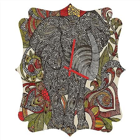 Deny Designs Valentina Ramos, Bo The Elephant, Quatrefoil Clock, Medium