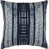 "Stone & Beam Shibori Pillow Cover, 17"" x 17"", Blue"