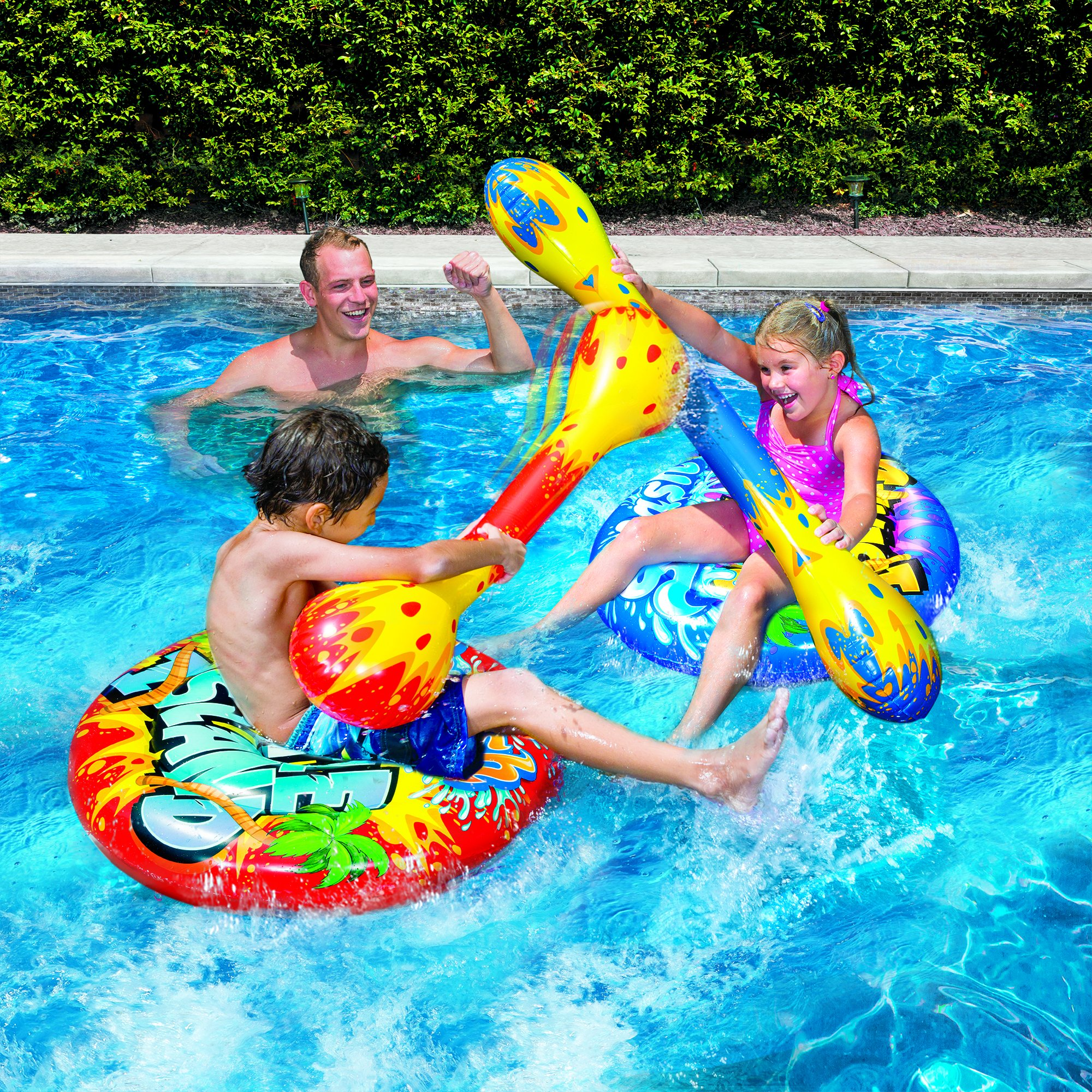 banzai splash battle islands includes two inflatable air islands 2