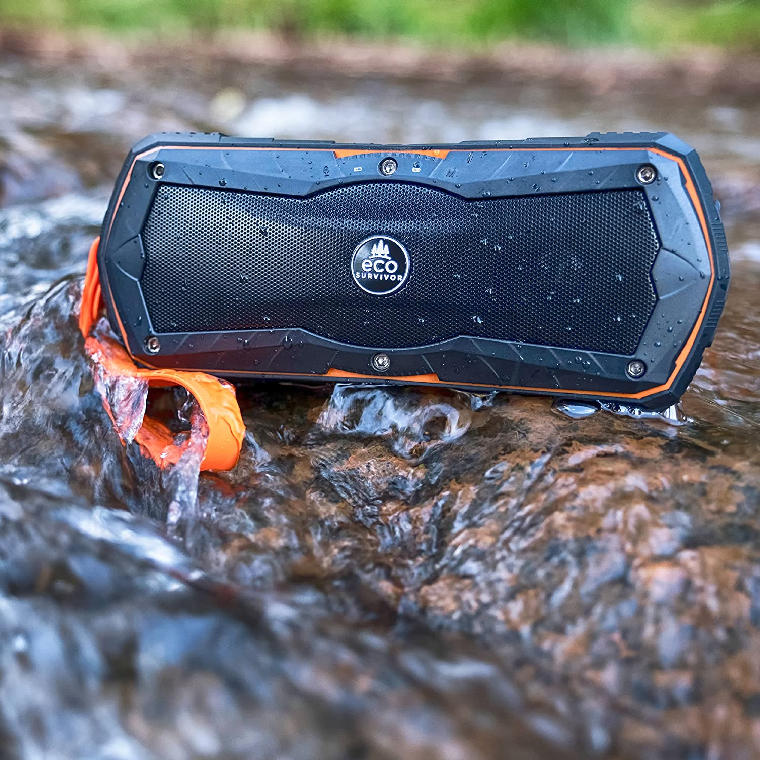 USB Portable Charger EcoSurvivor Outdoor Bluetooth Speaker Samsung Wireless Speaker for iPhone 34425 and More Water Resistant 50/% Charity Giveback Battery Pack