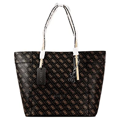 cdc85cb1138d GUESS Delaney Medium Classic Tote (Brown)  Amazon.co.uk  Shoes   Bags