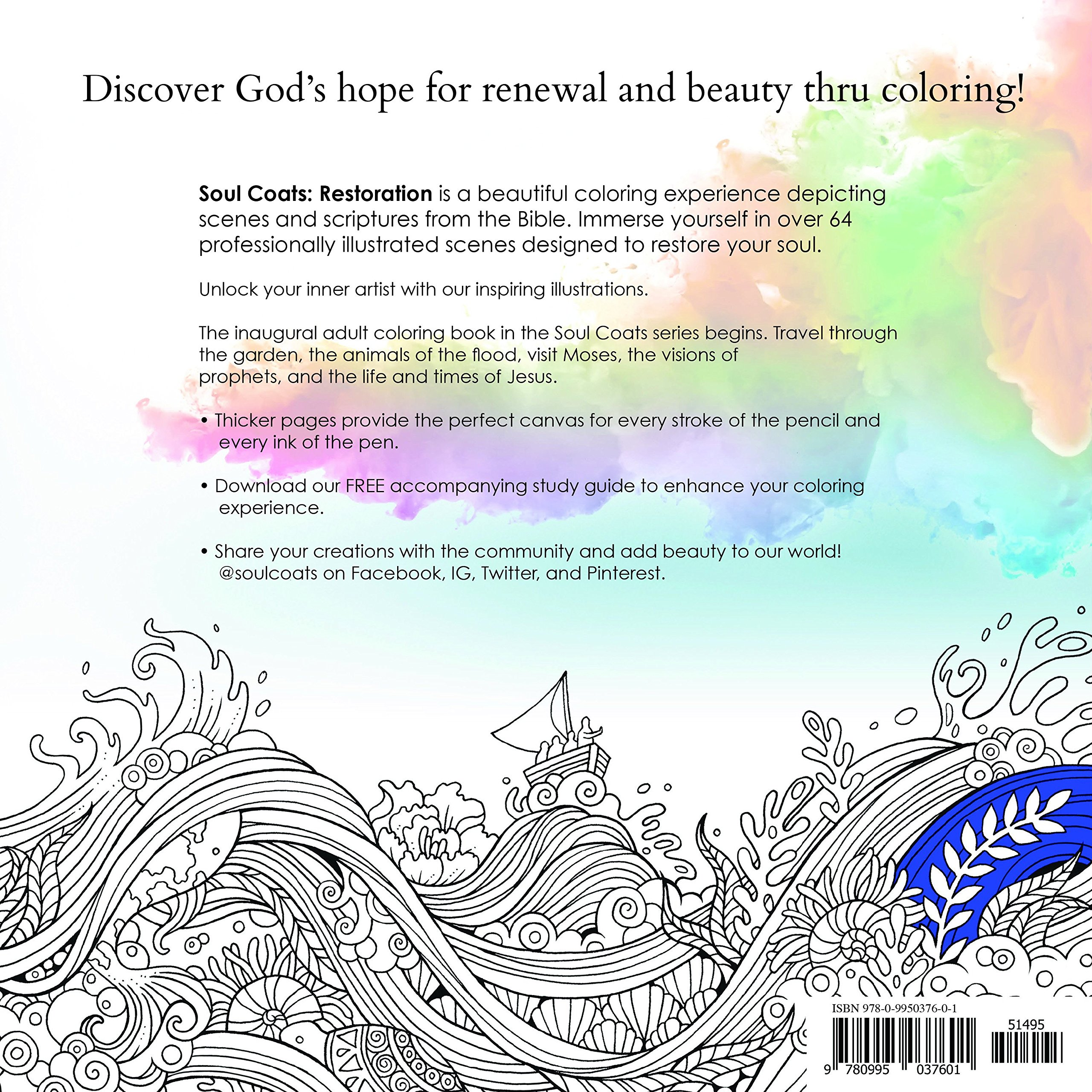 Coloring book with guide - Amazon Com Soul Coats Adult Coloring Book With Bible Scenes From The Old New Testaments And Illustrated Verses 9780995037601 Rohadi Books