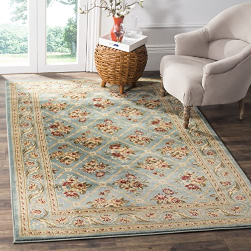 Safavieh Lyndhurst Collection LNH556-6565 Traditional Floral Trellis Blue Area Rug 4 x 6
