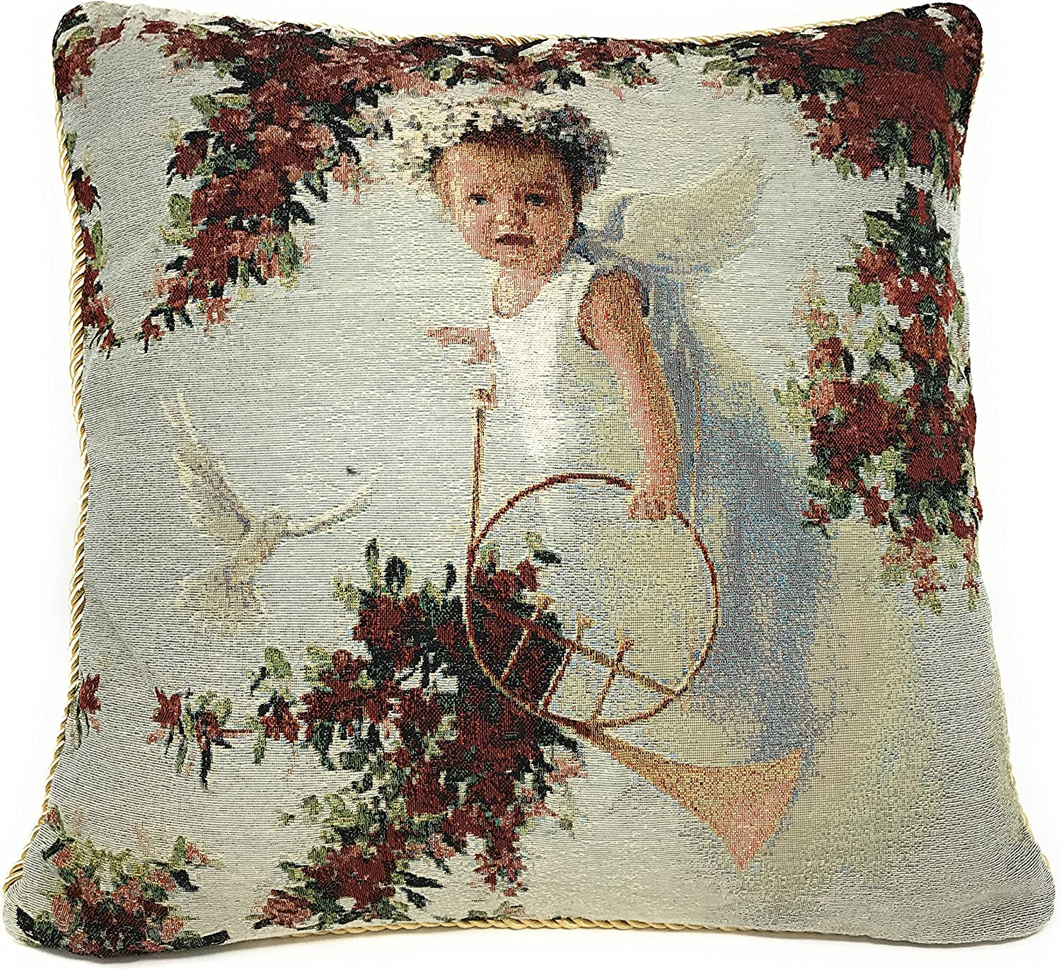 Amazon Com Tache Home Fashion Angel In The Garden Pillow Cover 1 Piece Home Kitchen