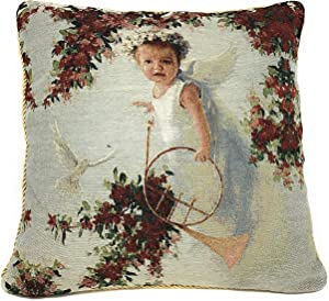 Tache Home Fashion Angel in The Garden Pillow Cover, 1 Piece