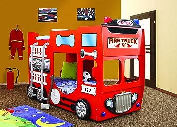 Etagenbett Bus Gebraucht : Kinderzimmerbett etagenbett kinderbett feuerwehr firetruck