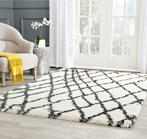 Safavieh Belize Shag Collection SGB484B 2-inch Thick Area Rug