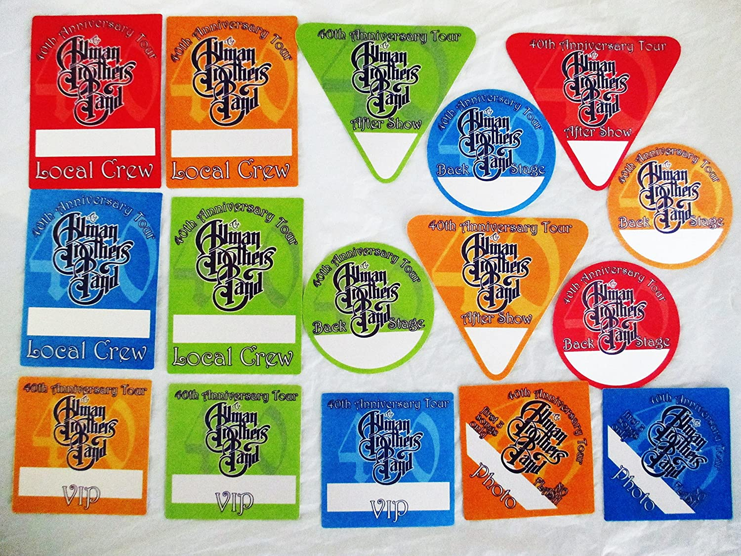 16 2009 Allman Brothers Band Backstage Passes 40th Anniversary Tour