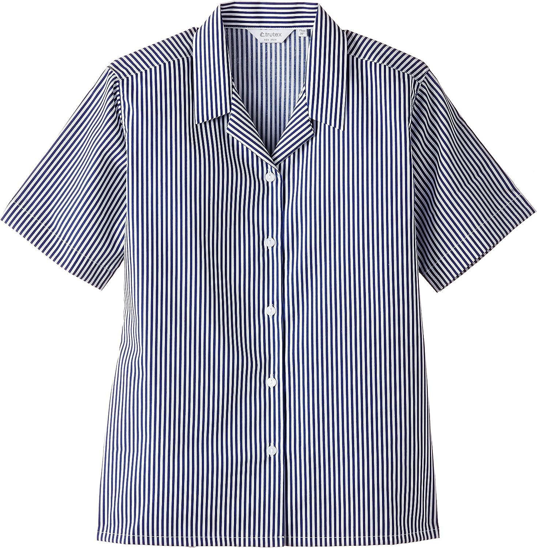 Trutex Limited Girls 2PK Rever Striped Short Sleeve Blouse