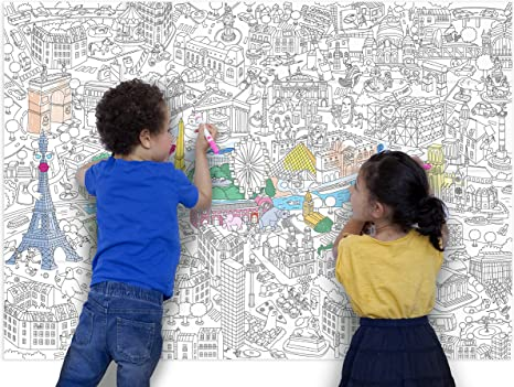 OMY Design /& Play Giant Colouring Poster for Kids Paris