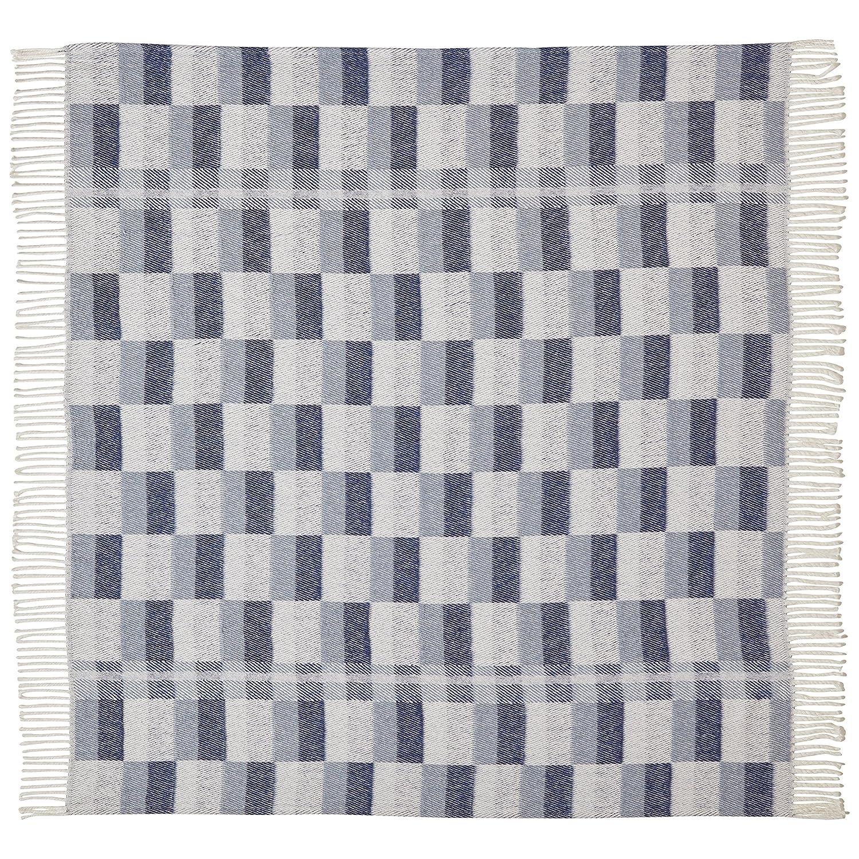 Stone /& Beam Modern Farmhouse Color Block Throw Blue Multi 50 x 60 KASCG ARJ-TBL-BMU Soft and Durable 50 x 60