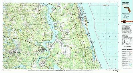 Amazon Com Yellowmaps Saint Augustine Fl Topo Map 1 100000 Scale