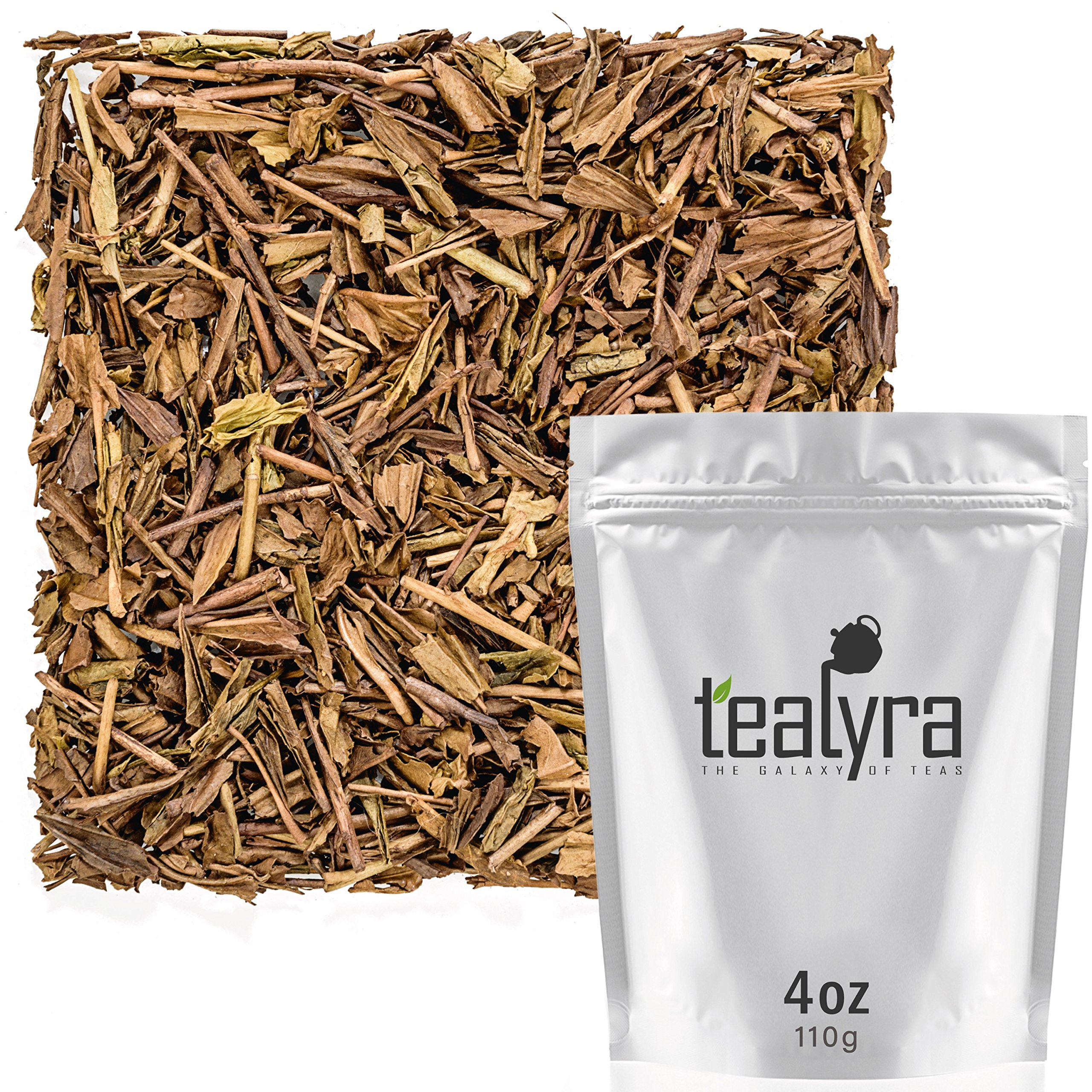 Tealyra - Hojicha Roasted Green Tea - Japanese Loose Leaf Tea - High Antioxidants - Low Caffeine - 110g (4-ounce)